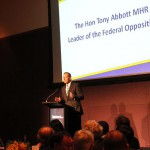 """Tony Abbott says carbon tax is """"dumb"""" at Manufacturers' Monthly Endeavour Awards 2011"""