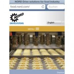 New NORD microsite for food and beverage drive technology is optimised for mobile devices