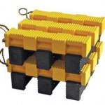 Standards-compliant clean green plastic cribbing sets benchmarks for heavy weight-bearing consistency