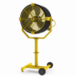 Increased maneuverability in portable fans