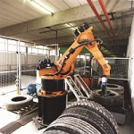Robots used in car wheel manufacturing