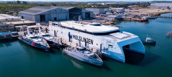 Austal successfully launches passenger ferry built for Denmark's
