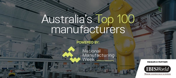 Australia's top 100 manufacturing companies revealed