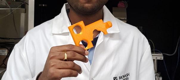 Monash student makes 3D printed key against COVID-19