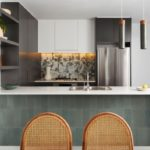 """Apartment made from waste glass and textiles showcases """"green"""" ceramics"""