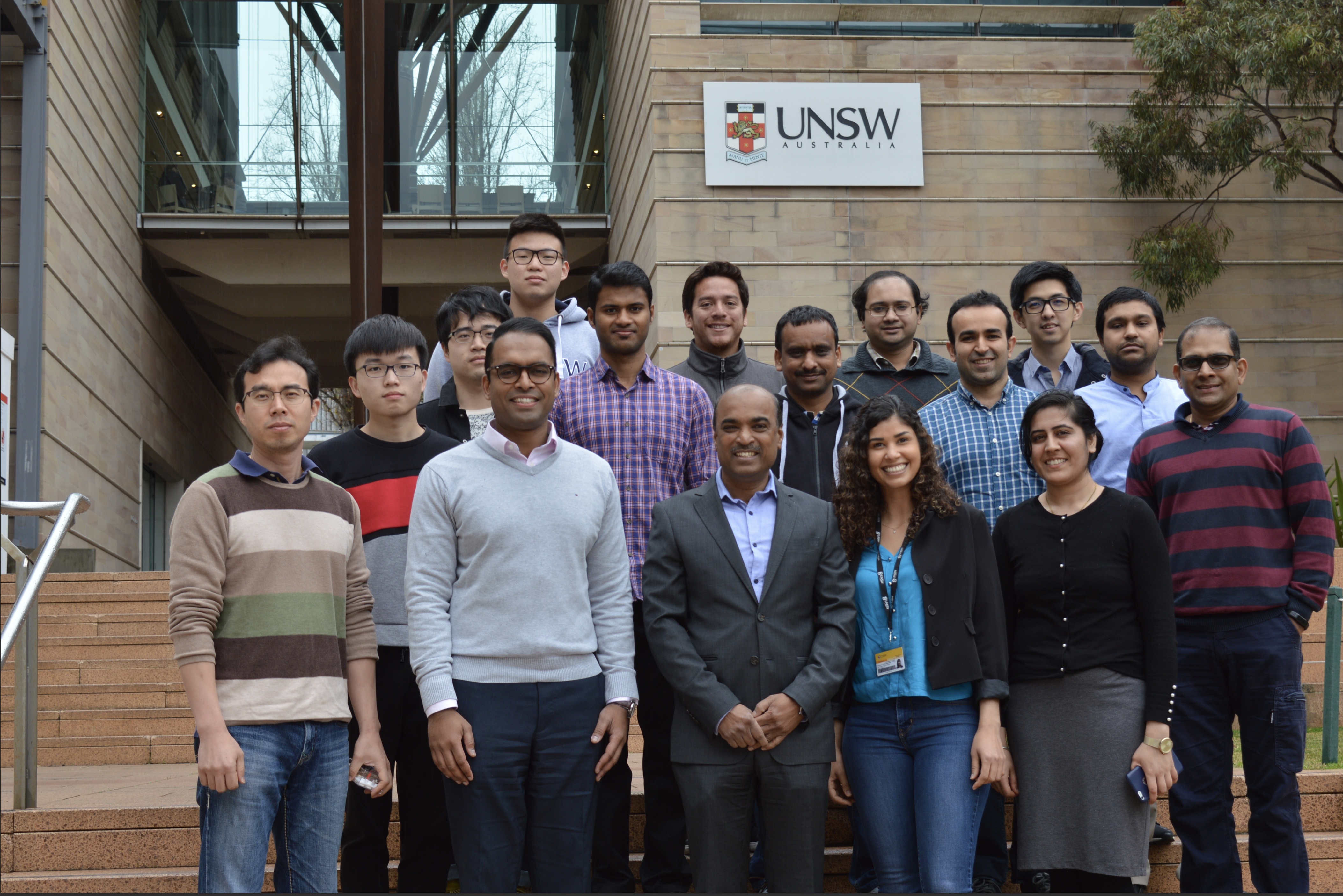 Professor Gangadhara Prusty, director of the ARC Training Centre for Automated Manufacture of Advanced Composites (AMAC), along with his research group.
