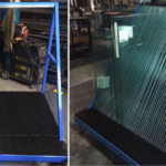 Easy storage and handling of glass panels with HDPE grooves