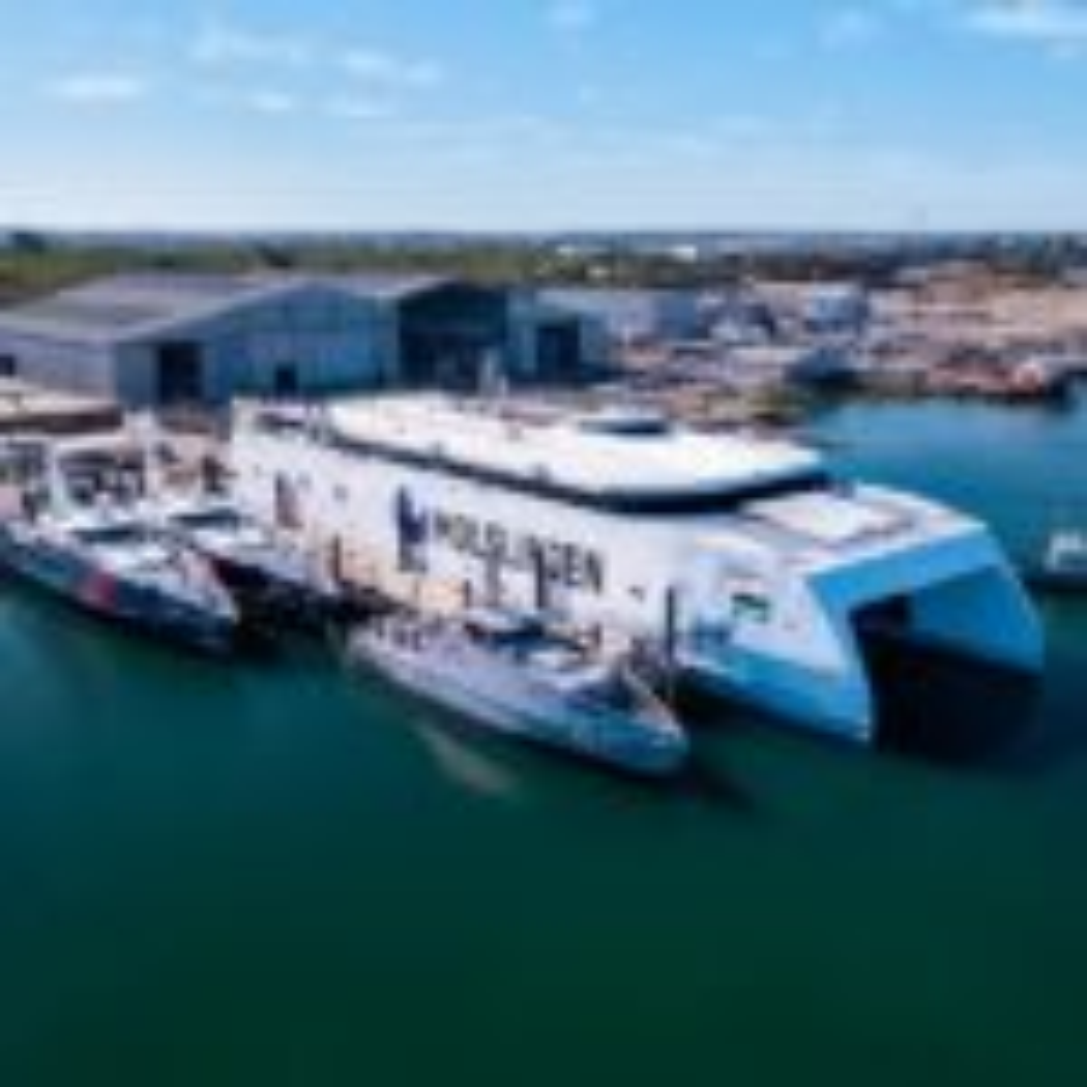 Austal successfully launches passenger ferry built for Denmark's Molslinjen